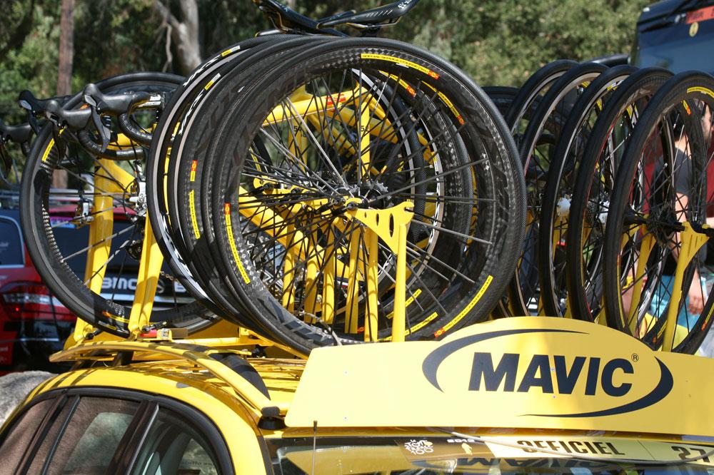 Voiture Mavic sur le Tour de France 2014