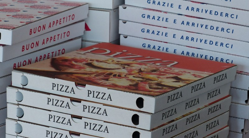 La boîte à pizza, bon exemple d'emballage alimentaire populaire